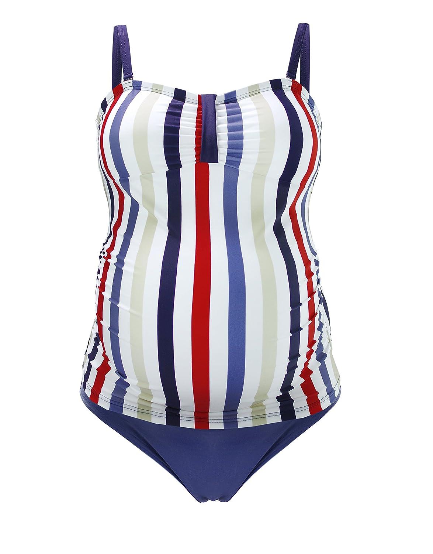 Herzmutter Maternity Tankini Swimwear Pregnancy Swimsuit-Set, Women´s Two-Piece Swimwear, UV Protection 50 (7000)