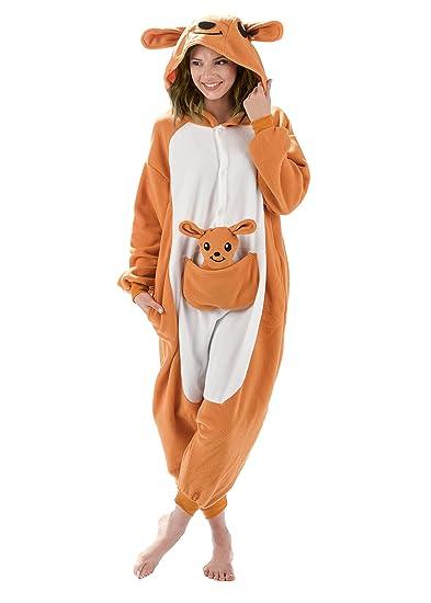 Adult Onesies Kigurumi Cosplay Costume Kangaroo Hood Animal Onesie Furries Pajamas for Men u0026 Women  sc 1 st  SKARRO & Kigurumi Cosplay Animal Cartoon Onesies u2013 SKARRO u2013 Be Fun u2013 Live ...