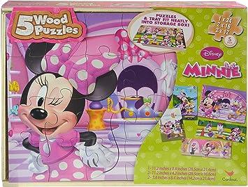 Disney - Pack 3 Puzzles Madera Minnie: Amazon.es: Juguetes y juegos