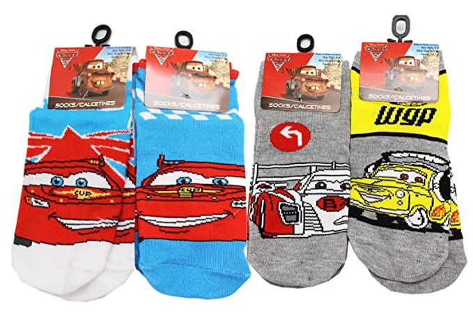 Disney Pixars Cars 2 Assorted Character Kids Socks (Size 6-8, 3 Pairs