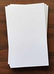 "3 Pads - Blank Note Pad, 5"" x 8"", 50 Sheets, Heavyweight Paper"
