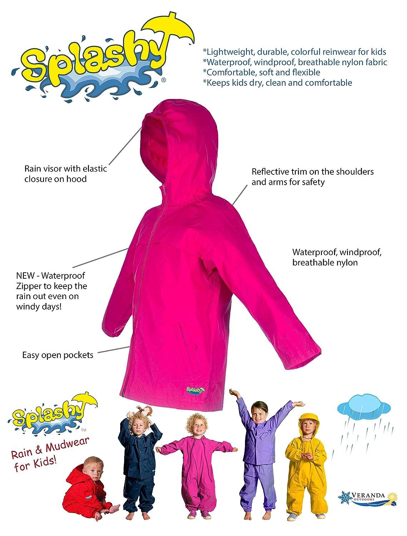 Splashy Nylon Childrens Rain Coat