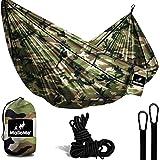 Double & Single Portable Camping Hammock - Parachute Lightweight Nylon with Hammok Tree Ropes Set- 2 Person Equipment…
