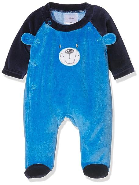 Twins Pijama Bebé-Niños Azul 0-2 meses (Talla del fabricante: 50