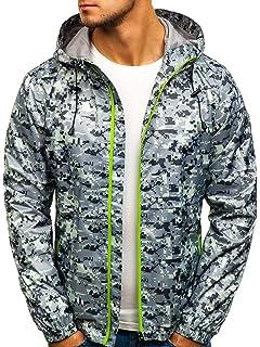 BOLF giacca mezza stagione – Con cappuccio – Chiusa a zip – Mimetica – Di  moda c934afbec0f