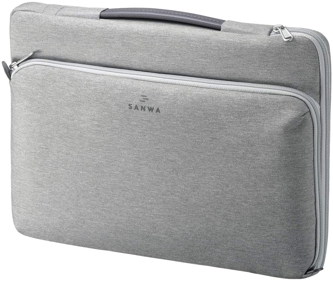 SANWA Laptop Sleeve Bag Compatible with 13-13.3 inch MacBook Pro, Air, Tablet, Surface, Dell, HP, Lenovo, Asus, Computer, YKK Zipper, Waterproof Shock Resistant Case, with Accessory Pocket, Grey