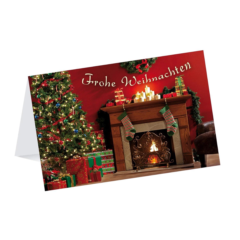 Hochwertige Weihnachtskarten.Kibano 10er Set Hochwertige Weihnachtskarten Gruß Karten Mit 5