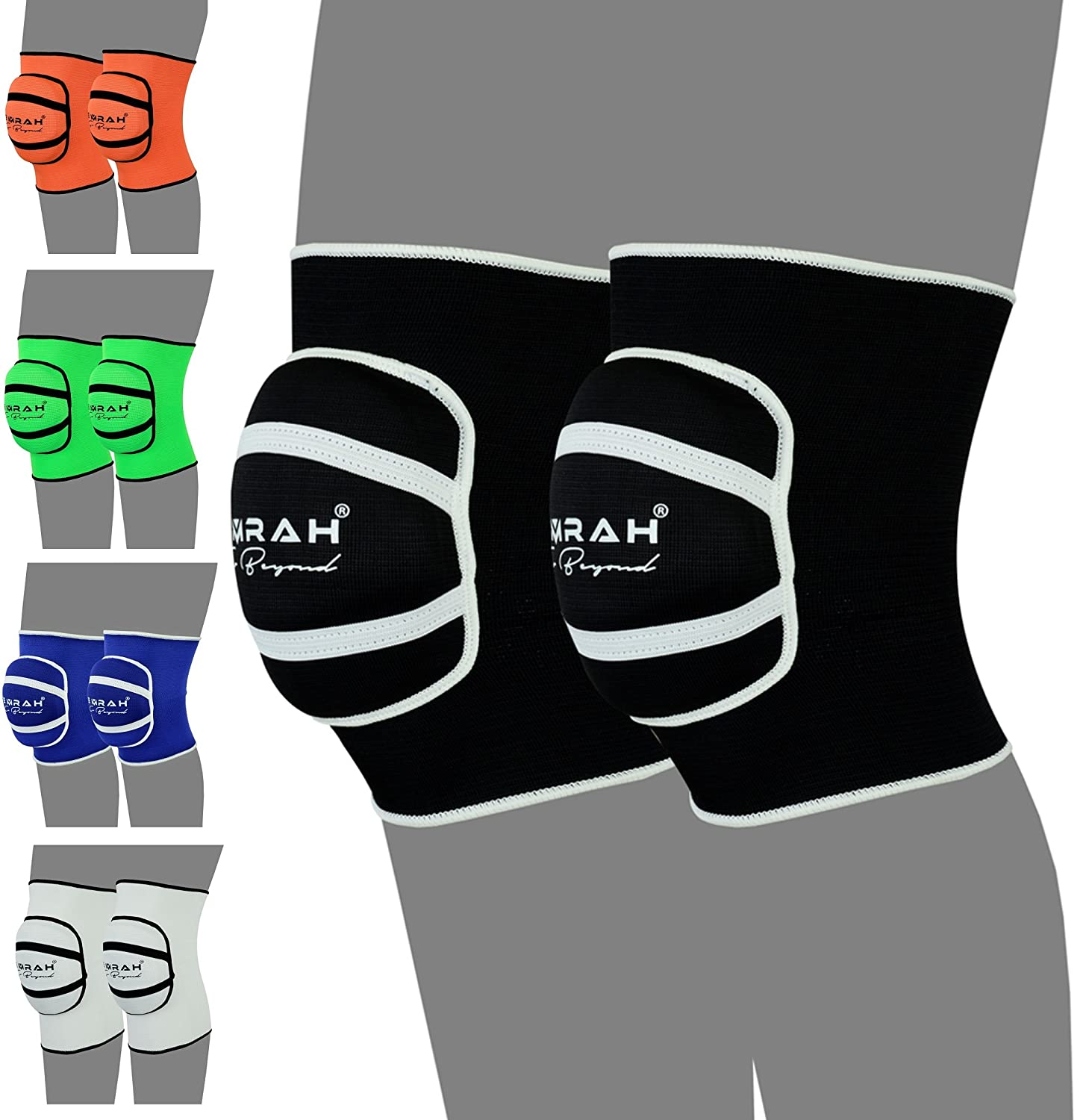 Black Small EMRAH Knee Pads with Heavy Duty Foam Padding and Comfortable Gel Cushion Cap Predector- X