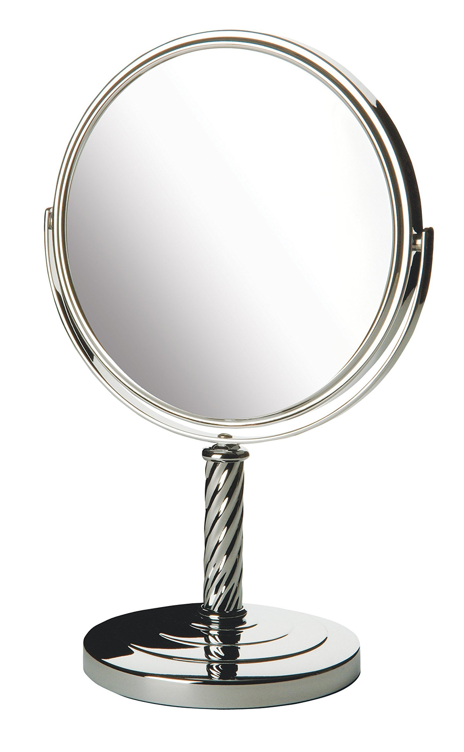 Jerdon LT5165C 8-Inch Two-Sided Mirror with 5x Magnification, Chrome Finish