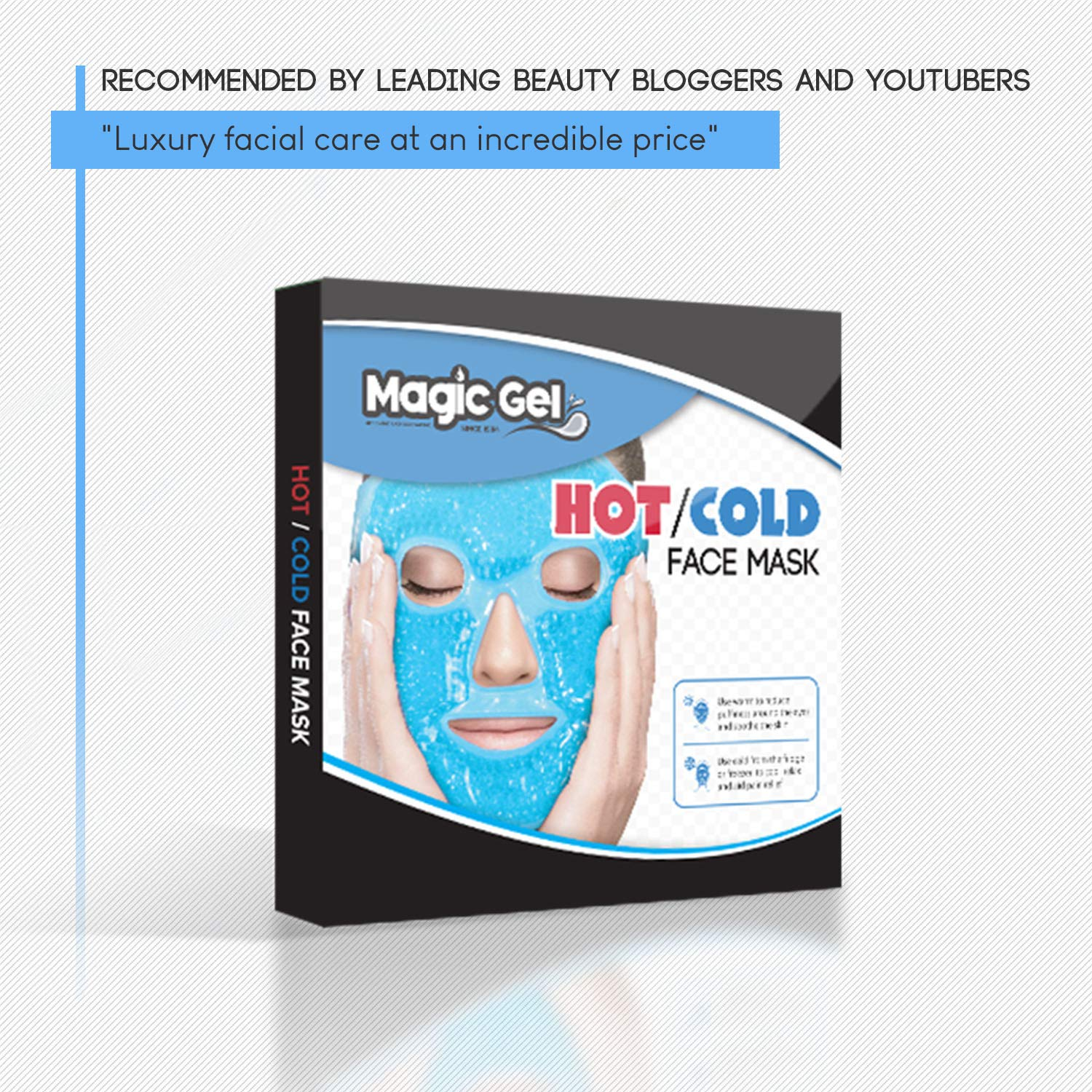Luxury Face Cold Mask - Ice Cold Gel Pack with a Soft Cotton Backing   Premium Quality Cooling Face Ice Pack for Better Sleep, Puffy Eyes and  Improved