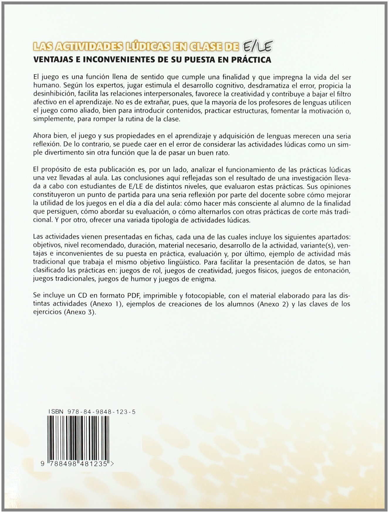 Las actividades lúdicas en clase de ELE Actividades para el profesor: Amazon.es: Yolanda Tornero: Libros