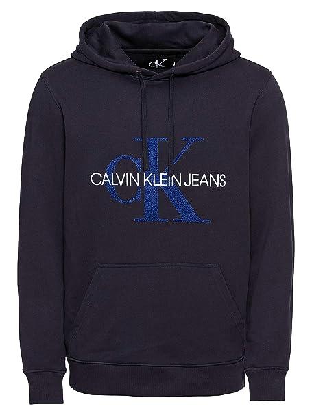 Calvin Klein Sudadera Toweling Monogram Hombre: Amazon.es: Ropa y accesorios