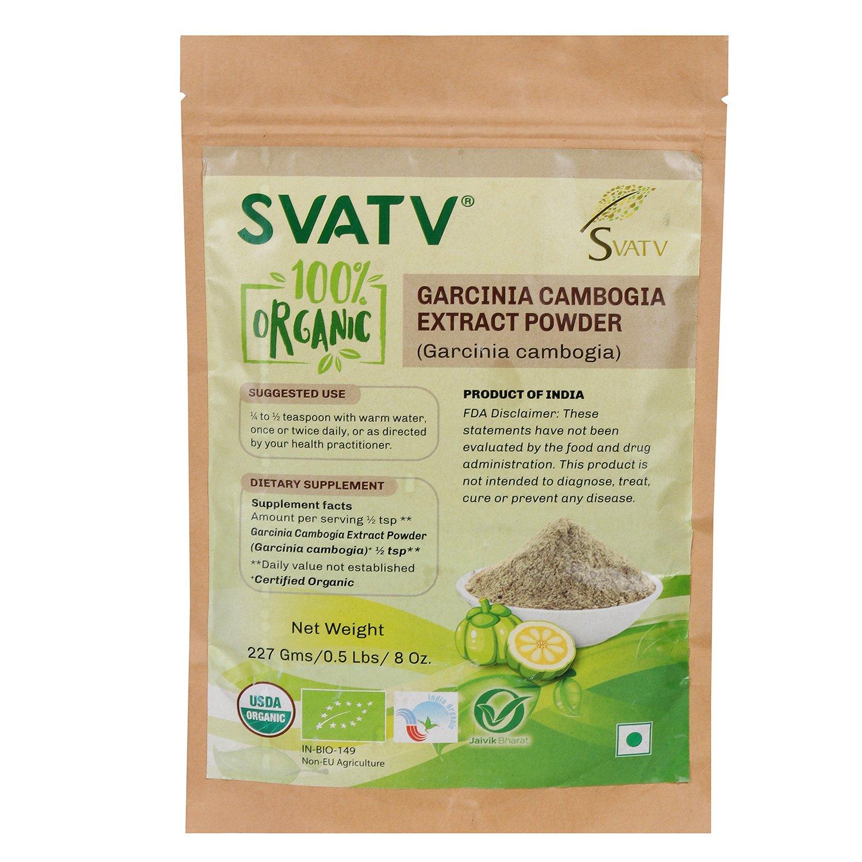 SVATV Organic Garcinia cambogia Powder II USDA Certified Organic II 227g, 8oz, .5lb