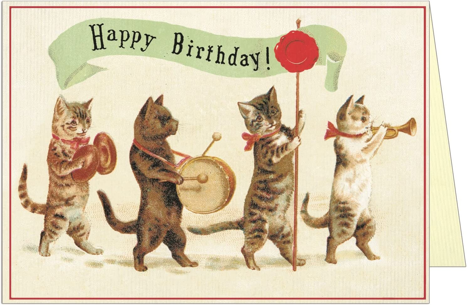 Cool Amazon Com Happy Birthday Band Cats Greeting Card Office Products Personalised Birthday Cards Epsylily Jamesorg