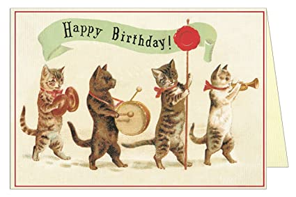 Amazon Happy Birthday Band Cats Greeting Card Office Products