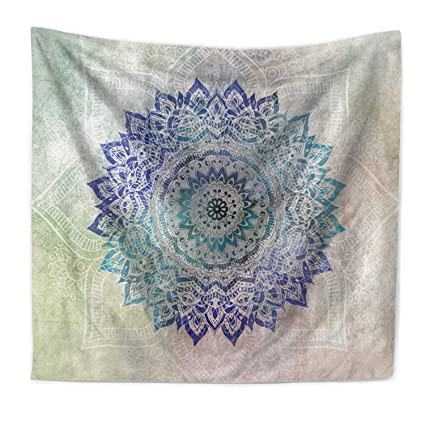 Amazon.com: Ecomic Floral Tapestry, Indian Bohemian Wall Hanging ...