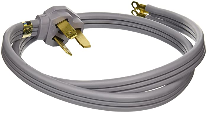 General Electric WX09X10006 3 Wire 40amp Range Cord, 4-Feet