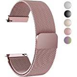 Fullmosa Gear S3 Bands, Milanese Loop 22mm Watch Band/Strap with Quick Release Pins for Samsung Gear S3 Frontier/S3 Classic Band Moto 360 2nd Gen 46mm Watch Strap/Band