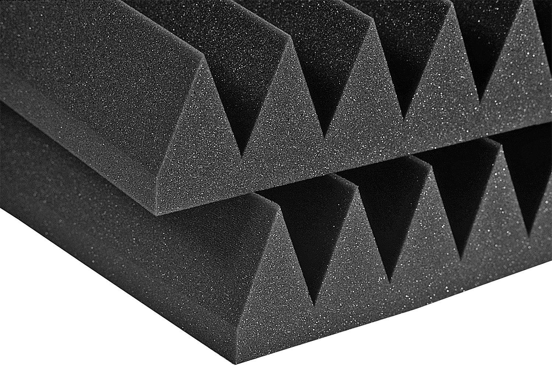 Auralex Acoustics 2'' Studiofoam Wedge Half Pack, Charcoal - 6 Panels, 2'' x 24'' x 48'' (2SF24CHA_HP)