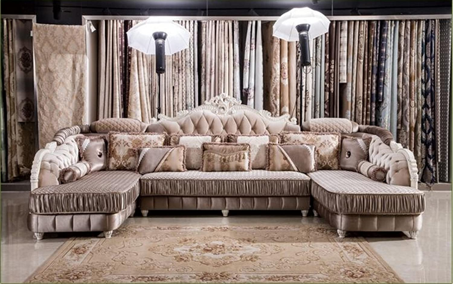 Popular european style living room furniture sectional sofa set in fabric u01 amazon ca home kitchen