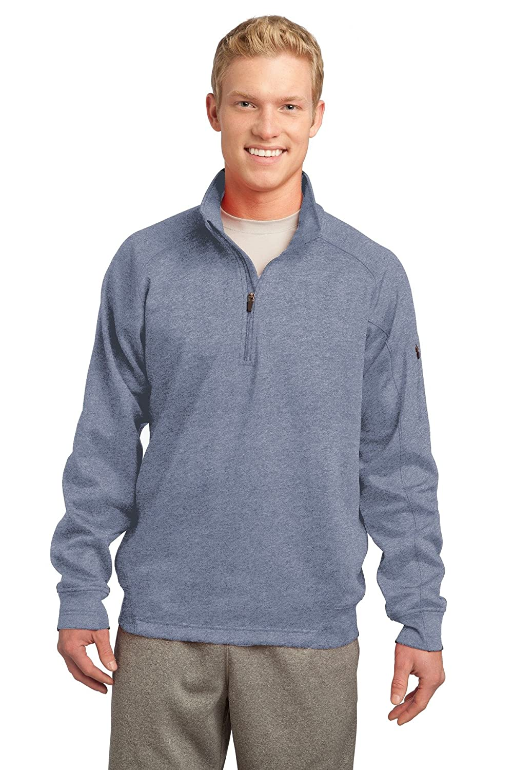 Sport-Tek/® Tech Fleece 1//4-Zip Pullover Grey Heather XX-Large