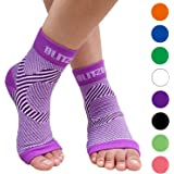 BLITZU Plantar Fasciitis Compression Socks For Women & Men - Best Ankle and Nano Sleeve For Everyday Use - Provides Foot…