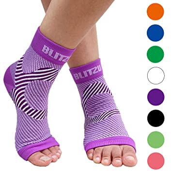 8320d4aca8 Blitzu Ankle Brace Support Foot Sleeves Plantar Fasciitis Medical  Compression Socks for Men Women Arch, Heel, Achilles, Fast Relief Recovery  from Swelling ...