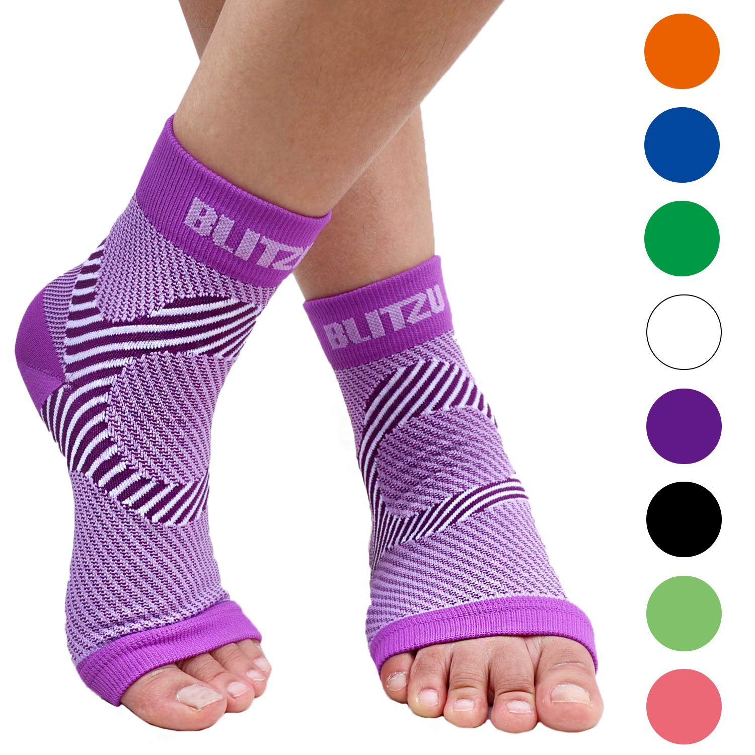 Plantar Fasciitis Socks with Arch Support, BEST Foot Care Compression Sleeve, Better than Night Splint, Eases Swelling & Heel Spurs, Ankle Brace Support, Increases Circulation, Relieve Pain PURPLE S/M