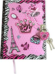 SMITCO Diary for Girls - Pink Secret Diva Journal Set with Lock and Keys for 5 to 10 Year Old Kids