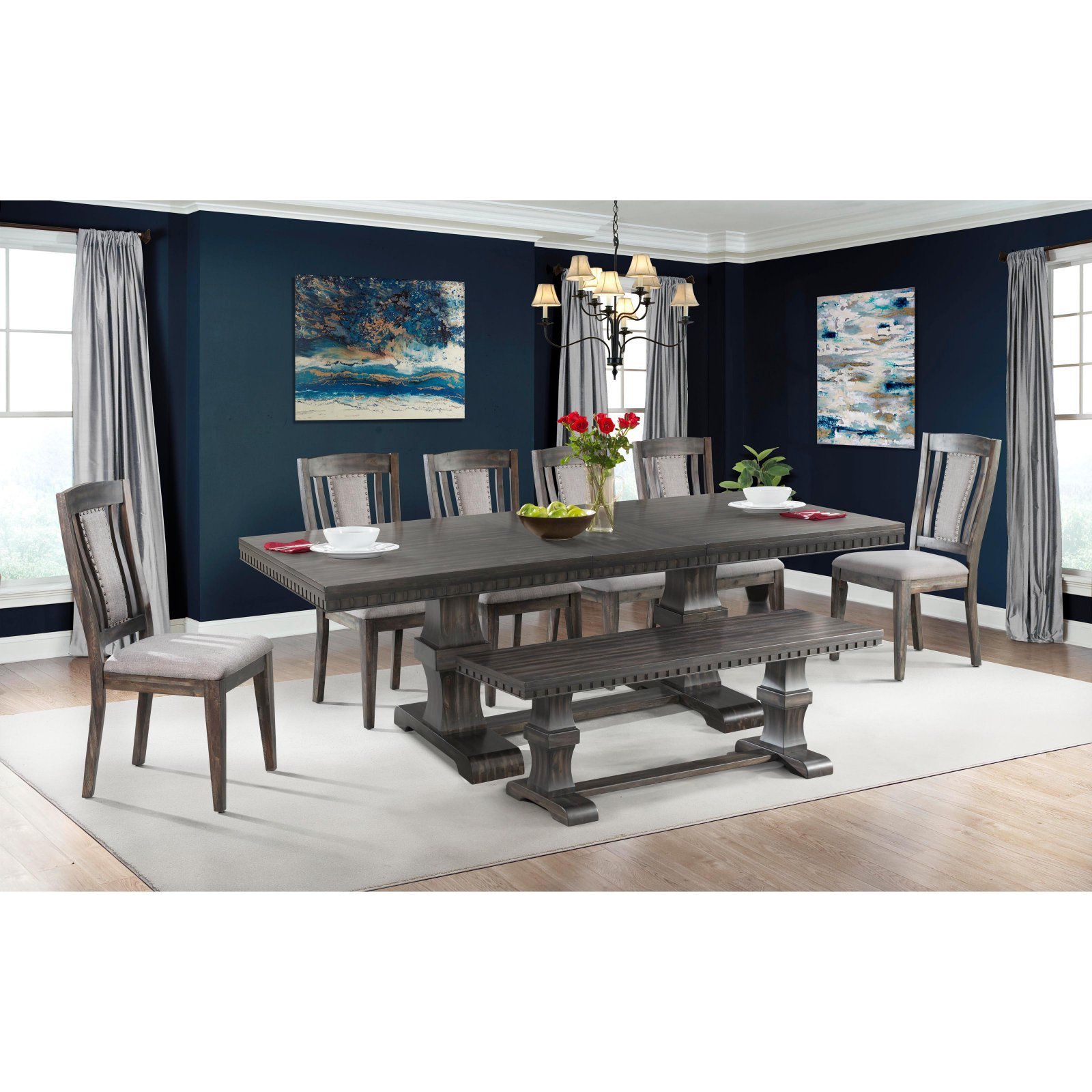 Picket House Furnishings Steele Wooden Dining Bench in Gray Oak by Picket House Furnishings (Image #2)
