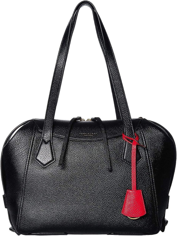 Tory Burch Women's Black Leather Perry Satchel Handbag