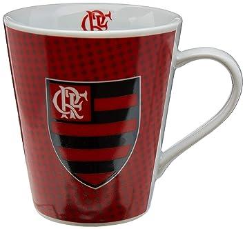 Caneca Porcelana Flamengo Times de Futebol Vermelho Preto  Amazon ... 47dad079d31ee