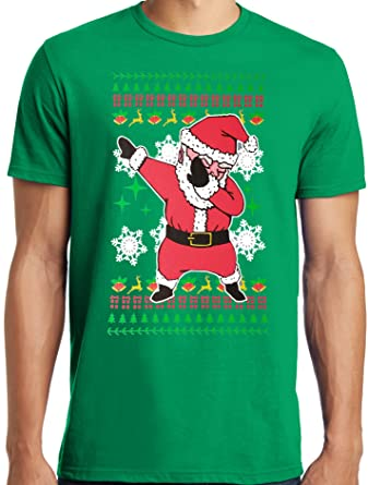 libertees big and tall king size dabbing santa ugly christmas sweater t shirt s