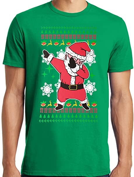 1498bbe6 LiberTEES Big and Tall King Size Dabbing Santa Ugly Christmas Sweater  T-Shirt: Amazon.ca: Clothing & Accessories