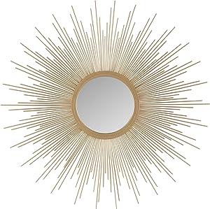 Madison Park Fiore Sunburst Mirror, Large, Gold