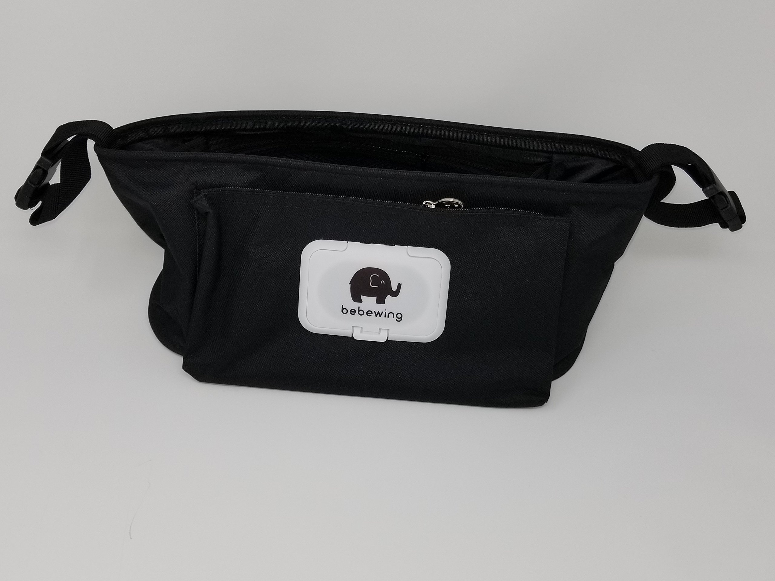 Stroller Organizer with Cup Holders - Baby Wipes Dispenser - Stroller Bag - Mini Diaper Bag - Stroller Accessories