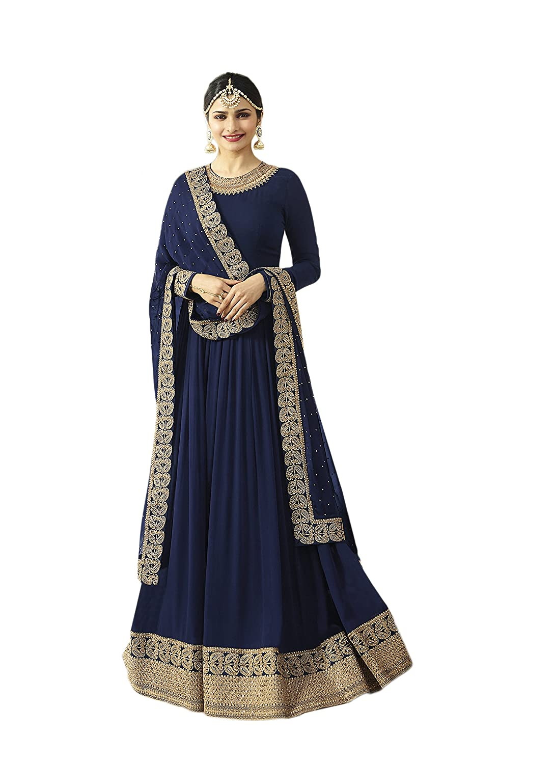 Indian Bollywood Designer Ethnic Wear Anarkali Salwar Kameez Semi-Sttiched A1034 55001034