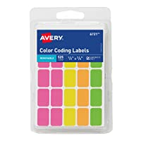 Deals on 525-Count Avery Removable Color Coding Labels