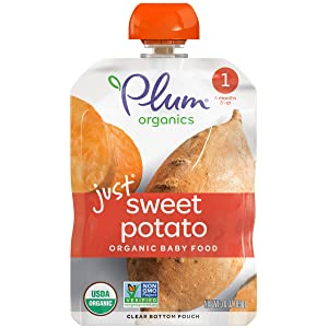 Plum Organics Stage 1 Organic Baby Food, Sweet Potato Puree, 3 Ounce Pouch (Pack of 6)