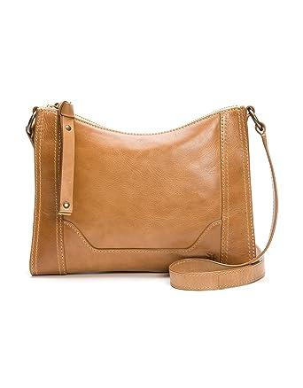 351875d74 Amazon.com: Frye Melissa Zip Leather Crossbody, Beige, One Size ...