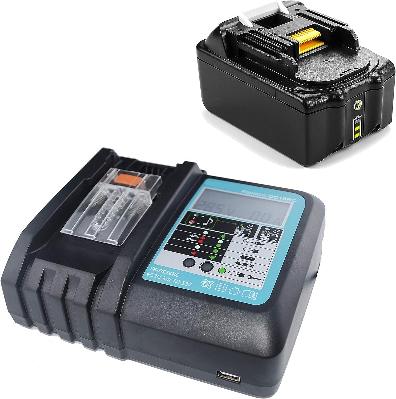 18V 3.0Ah Battery+Charger For MAKITA DMR104 BMR104 BMR102 DMR105 Radio