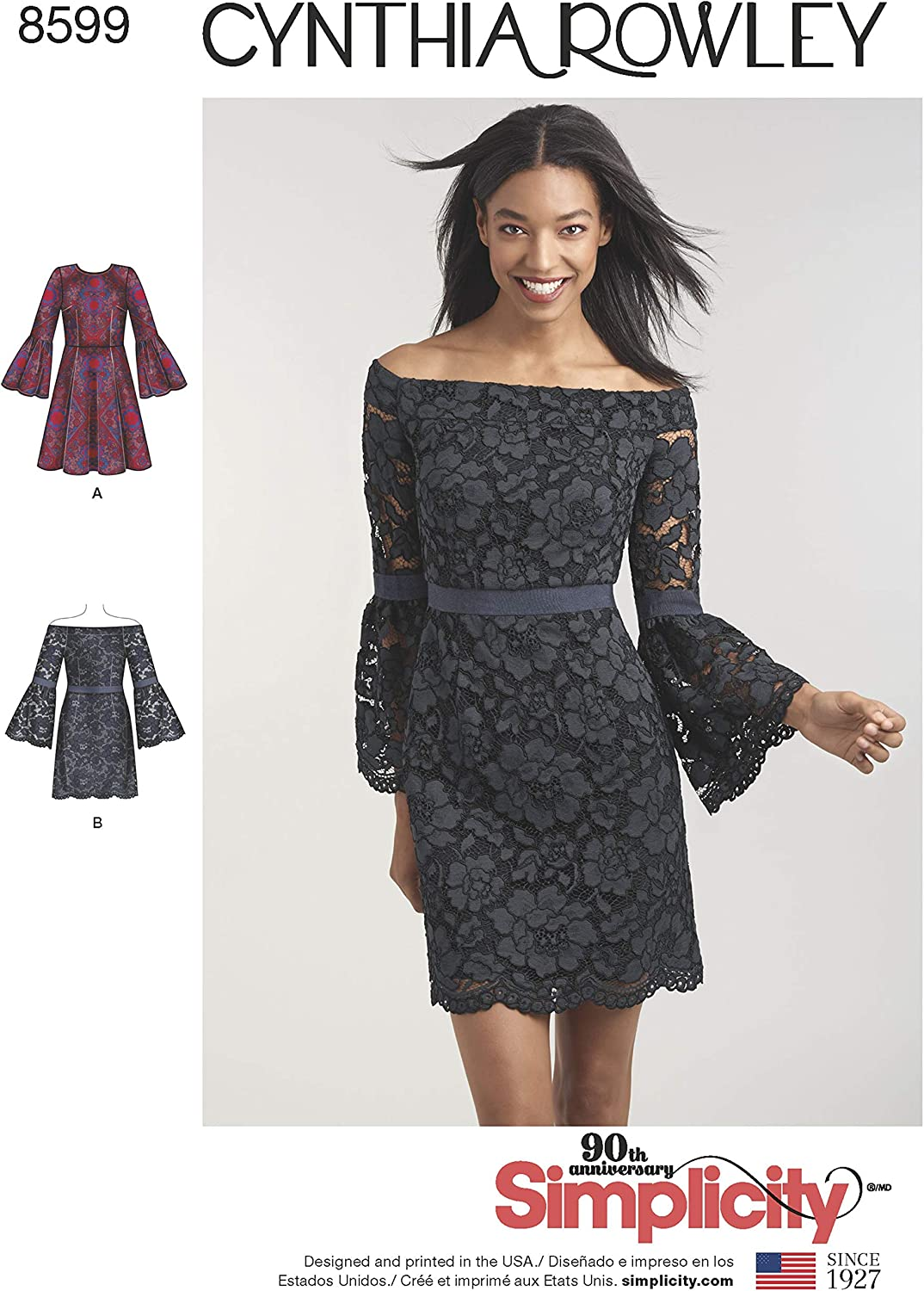 Simplicity Sewing Pattern D0888 / 8599 - Misses' and Petites' Cynthia Rowley Dresses, H5 (6-8-10-12-14)