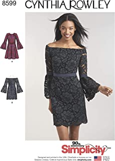 product image for Simplicity Sewing Pattern D0888 / 8599 - Misses' and Petites' Cynthia Rowley Dresses, P5 (12-14-16-18-20)