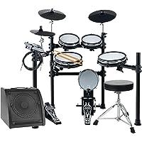 XDrum DD-530 Mesh Heads E-Drum LIVE SET mit Drum-Monitor und Hocker (elektronisches Schlagzeug, Kopfhörer-Anschluss, 400 Sounds, Lernfunktion)