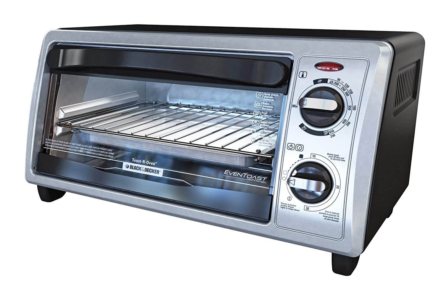 Amazon.com: BLACK+DECKER TO1332SBD 4-Slice Toaster Oven, Stainless ...