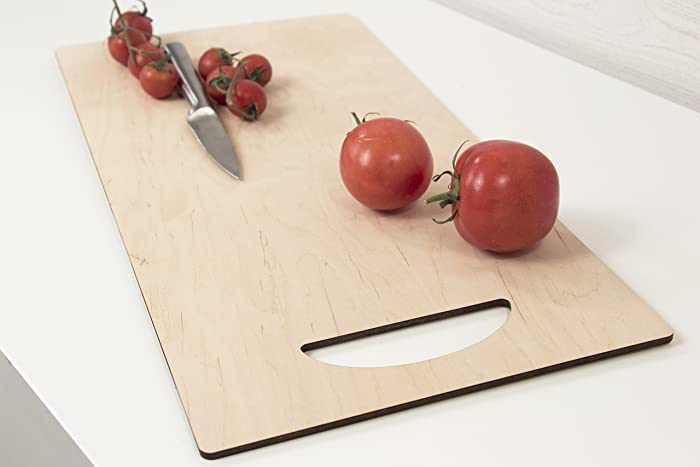 plywood cutting board 2 sizes available big wooden chopping board modern cutting board - Plywood Kitchen Decor