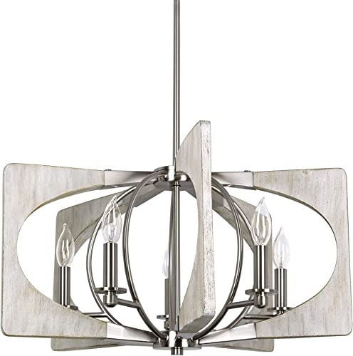 Kira Home Banyan 28″ 5-Light Modern Farmhouse Chandelier
