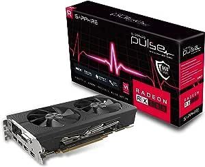 Sapphire 11265-05-20G Radeon PULSE RX 580 8GB GDDR5 DUAL HDMI / DVI-D / DUAL DP OC with Backplate PCI-E Graphics Card
