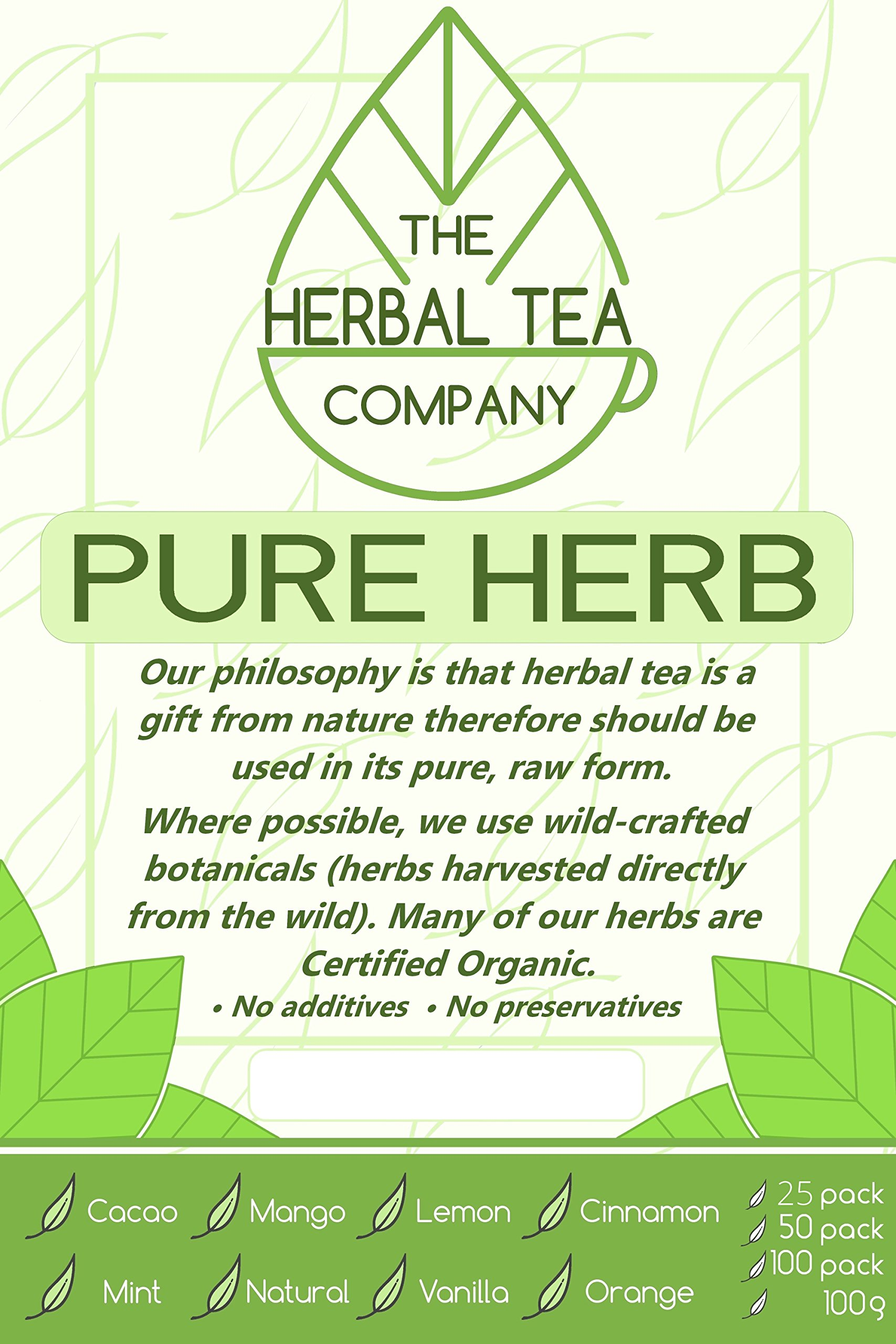 Hedge Mustard Pure Herbal Tea Bags With Natural Flavour 50 Pack