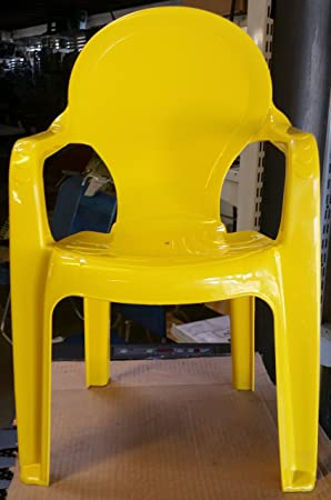 Lapergarden Pack de 4 sillas Infantiles en plastico (Amarillo ...